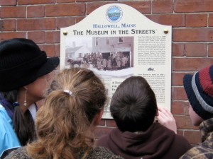Middle School students on the history trail in Hallowell