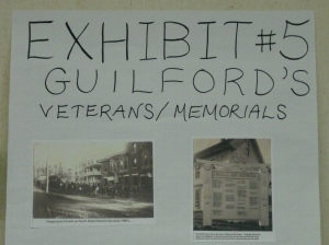 One of Guilford's five exhibit topics
