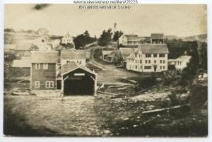 The oldest known photograph of Guilford, Maine, ca. 1850