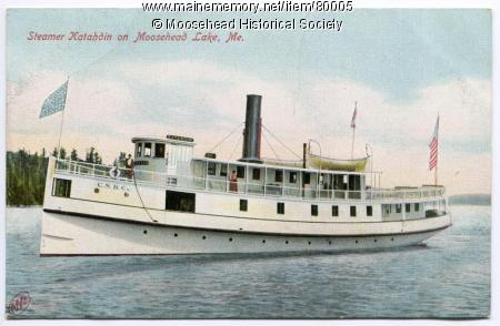 Steamer Katahdin on Moosehead Lake, Maine