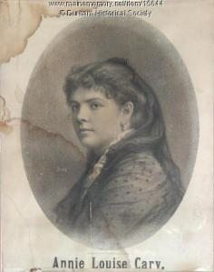 Annie Louise Cary, ca. 1870. MMN #15644. Contributed by Durham Historical Society.