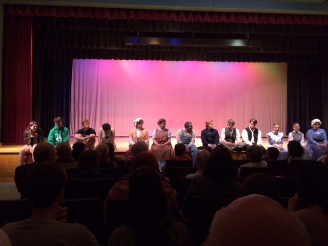 The cast takes questions after the performance.